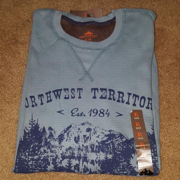 18750039 Northwest Territory Shirts | Blue Thermal Mens Jersey Xl | Poshmark